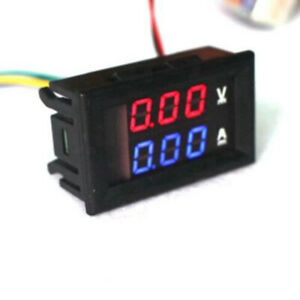 Dc 100v 50a Digital Ammeter Blue Red Led Volt Amp Meter Gauge Test Voltmeter