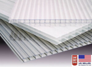 pack Of 2 24 x48 x8mm 5 16 Polycarbonate Twinwall Clear Sheets