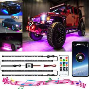 App Led Strip Under Car Tube Dreamcolor Underbody Neon Lights Kit Remote Control