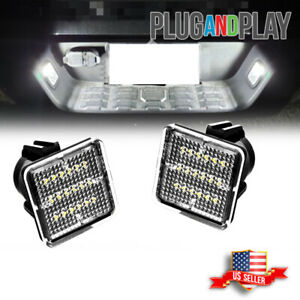 For 2016 2017 2018 2019 Toyota Tacoma 18 Smd Full Led White License Plate Lights