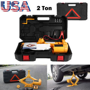2 Ton 12v Dc Automotive Car Garage Electric Jack Tool Garage Emergency Tool Us