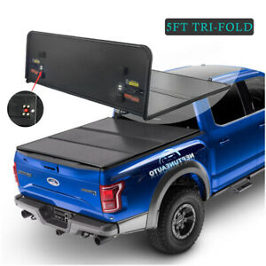 5ft 3 Fold Hard Solid Tonneau Cover For 2005 2018 Nissan Frontier S Sl Short Bed