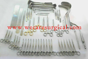 Basic Laparotomy Set Surgical Instruments Surgery Medical Abdominal Gold 104 Pcs