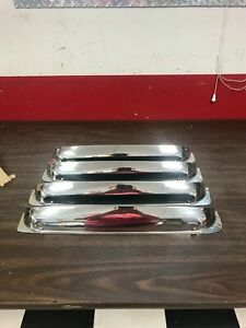1949 1950 Ford 4 Door Sedan Chrome Ventshades Nos Kromvents Nice Accessory 720