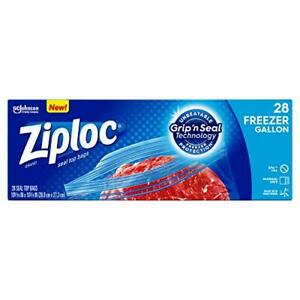 Ziploc Freezer Bags With New Grip n Seal Technology Gallon 28 Count