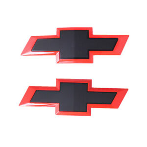 Black Red Chevrolet Car Front Grill Tailgate Emblem Badge For Chevy Silverado