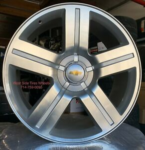 24 Chevy Silverado Tahoe Texas Edition Silver Machine Gmc Yukon Wheels Tires Ri