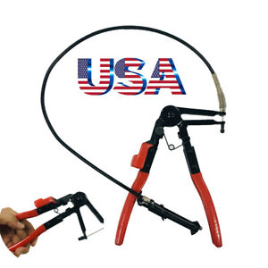 Heavy Duty Cable Flexible Wire Hose Clamp Pliers Car Repairs Removal Tools Usa