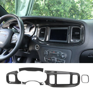 Center Console Frame Dashboard Panel Cover Trim Full Kit For Charger 2015 Up New
