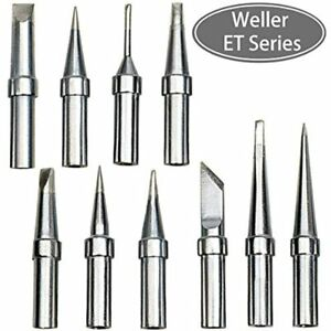 10 Pcs Of Weller Wes51 Soldering Tips Et Series For Wes51 Wes50 Wesd51 Pes50