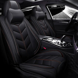 Luxury Car Seat Covers Pu Leather Protector Cushions For Universal Car Suv 5 sit