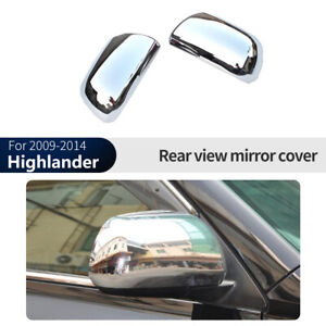 Chrome Silver Rearview Side Mirror Cover Trim For Toyota Highlander 2009 2014