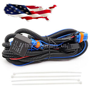 Fog Light Wiring Harness Kit For Chevy Silverado 03 06 07 Classic 1500 2500