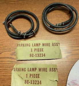 Vintage 1940 S 1950 S Ford Truck 8c 13234 Parking Light Lamp Wires Pair Nos 620