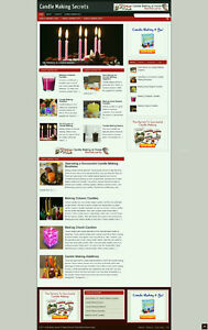 Candle Makers Tips Affiliate Website With Banners New Domain