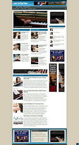 Learn To Play Piano Blog Website With Affiliate Store New Domain Hosting