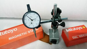 Mitutoyo Dial Indicator 2046s With Japan Made Mitutoyo Magnetic Base 7011s