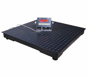 Ps3000 55 5n 2300kg 5000 Lb Digital Led Floor Scale With Remote