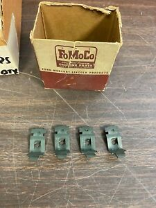 1949 1950 1951 Ford Armrest Clips Retainers Set Of 4 Nos Fomoco 720