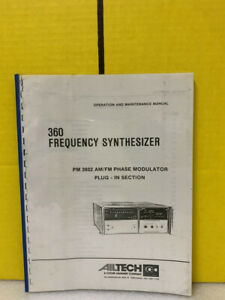 Ailtech 360 Frequency Synthesizer Pm 3602 Phase Modulator Plug in Maintenence