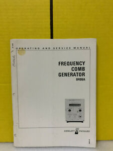 Hp 08406 90001 Model 8406a Frequency Comb Generator Operating Service Manual