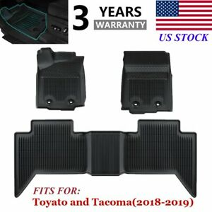 All Weather Floor Mats Liners Unique For 2018 2019 Toyota Tacoma Double Cab Us
