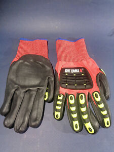 Cut Resistant Impact Protective Work Gloves Hvac Pipefitters Large
