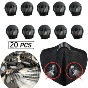 20 Face Mask Air Breathing Valve Respirator Valve Mouth Filter Replacement Part