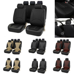 Luxury Pu Leather Universal Car Front Car Seat Covers Back Bucket Car Seat Cover