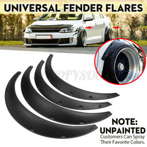 4x Universal Fender Flares Extra Wide Flexible Autos Car Wide Body Wheel Arches