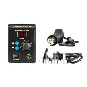 High Quality 858 Smd Electric Rework Soldering Station Iron Kit W Hot Air Gun