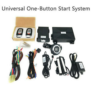 Car Keyless Entry Engine Start System Push Button Remote Starter Kit For Jeep