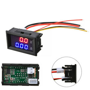 Dc 100v 10a Voltmeter Ammeter Blue red Led Dual Digital Volt Amp Meter Gauge Us