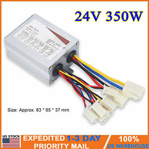24v 350w Dc Motor Brushed Speed Controller Box Electric Bicycle Scooter E bike