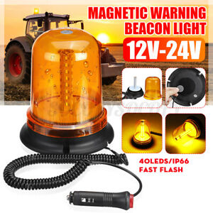 40 Led Magnetic Car Emergency Warning Strobe Light Beacon Alarm Flashing Driving