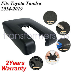 Fits Toyota Tundra 14 19 Console Center Armrest Cover Faux Leather Black
