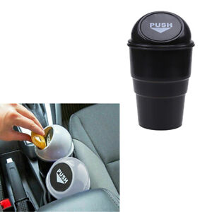 Car Auto Suv Black Plastic Trash Can Recycling Dustbin Storage Bin Holder