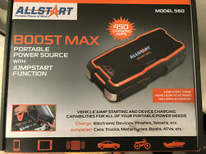 Allstart Boost Max Portable Power Source With Jumpstart Function Model 560