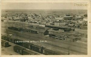 CO Holly Colorado Town View Commercial Studio RPPC $30.00