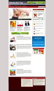 Alkaline Diet Affiliate Website With Store Free Hosting New Domain