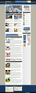 Arthritis Affiliate Website Blog Store With Free Domain And Installation