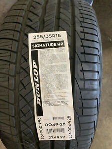 2 New 255 35 18 Dunlop Signature Hp Tires
