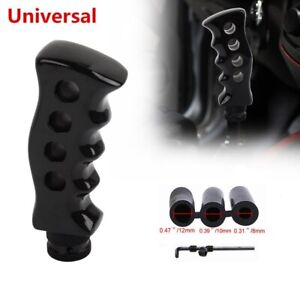 Universal Black Slotted Pistol Grip Handle Manual Gear Stick Shift Knob Shifter