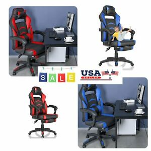 Gaming Chair Office Computer Home Seat Swivel Footrest Racing Ergonomic Recliner