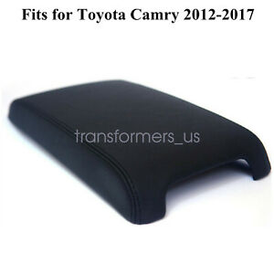 Fits 2012 2017 Toyota Camry Leather Center Console Armrest Cover Black