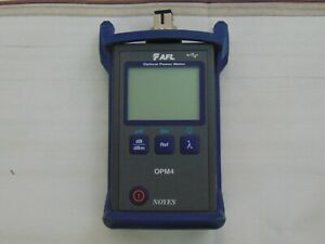 Afl Noyes Opm4 3d date 2014 Fiber Optic Power Meter Opm4 W case Blue