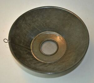 Primitive Antique Round Tin Sifter Wire Screen Separator Sieve Hanging Loop