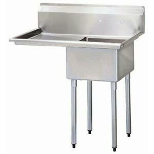 Turbo Air Tsa 1 l1 40 In One Compartment Sink W 18 In Left Drainboard
