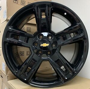 24 Chevy Silverado Tahoe Black Wheels Tires Rims Gmc Yukon Sierra Ram 1500 New