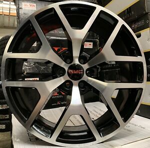 24 Black Machine Gmc Sierra 1500 Yukon Chevy Silverado Tahoe Rims Wheels Tires